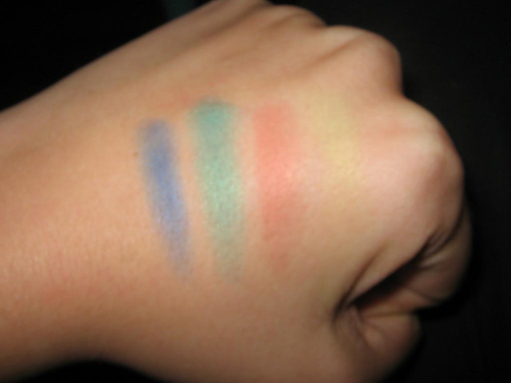 Colors swatches on hand