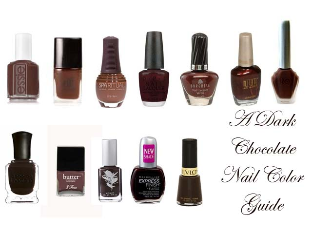Chocolate Brown Nail Color