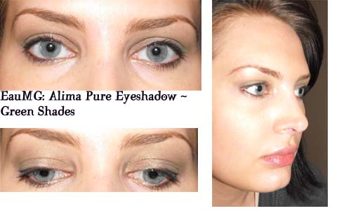 Alima Pure eyeshadow look