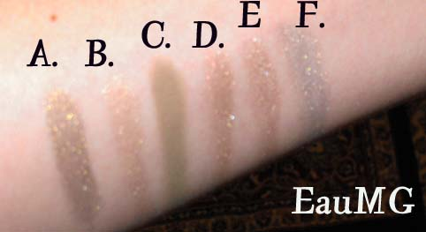 Alima Pure Mineral Eyeshadow Swatches