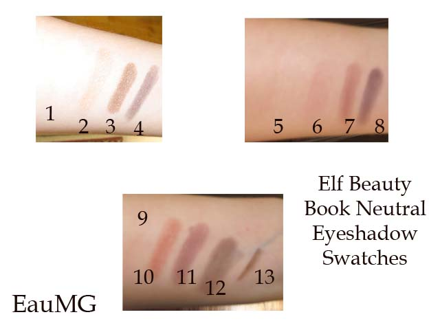 elf Beauty Book Neutral Eye eyeshadow swatches