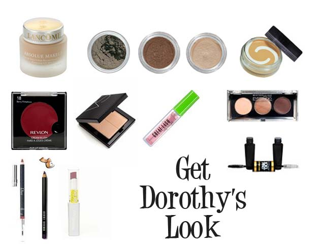 Cosmetics used to get the vintage look of Dorothy Dandridge