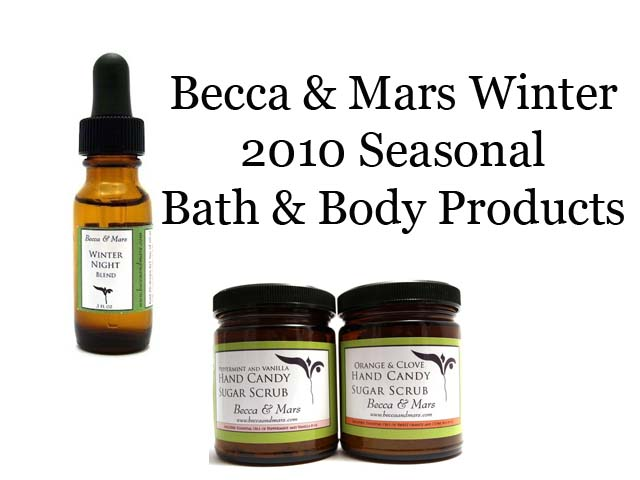 Becca & Mars 2010 Seasonal Winter Bath Products