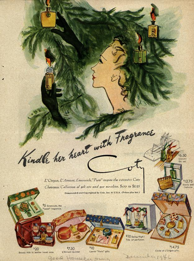1946 Coty Cosmetic Ad