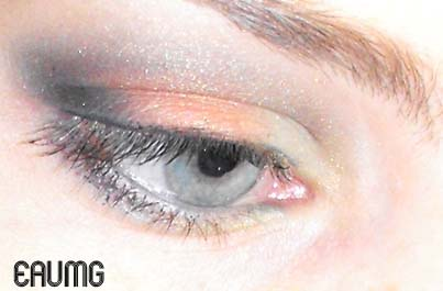 High Voltage Shimmery Eyeshadow look