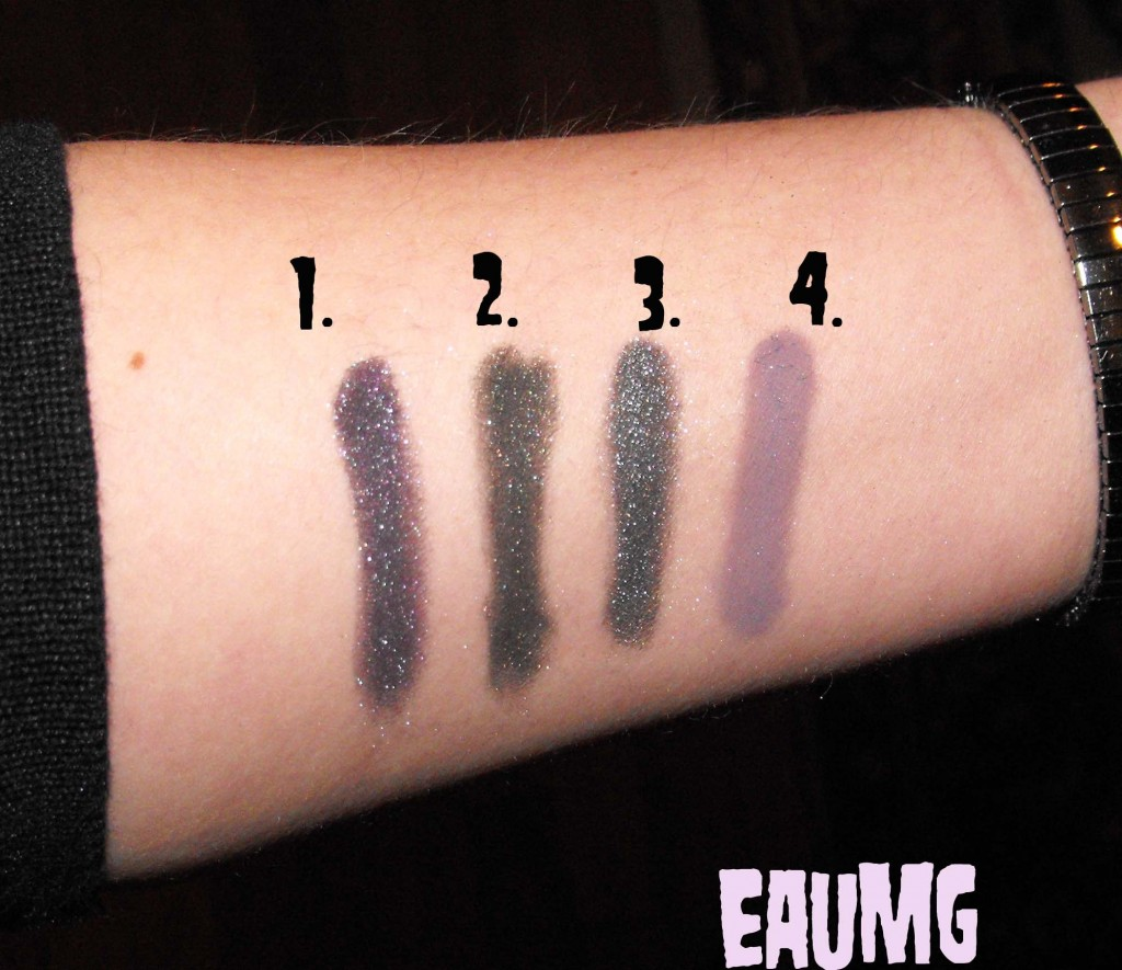 High Voltage Eyeshadow Swatches in Smoky Shades