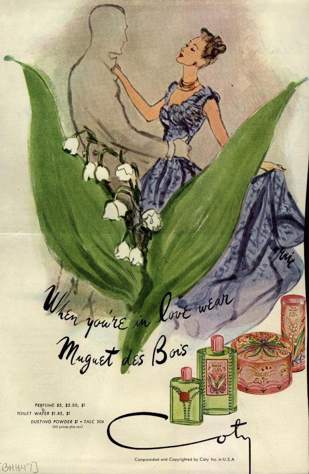 1947 Coty Muguet de Bois ad