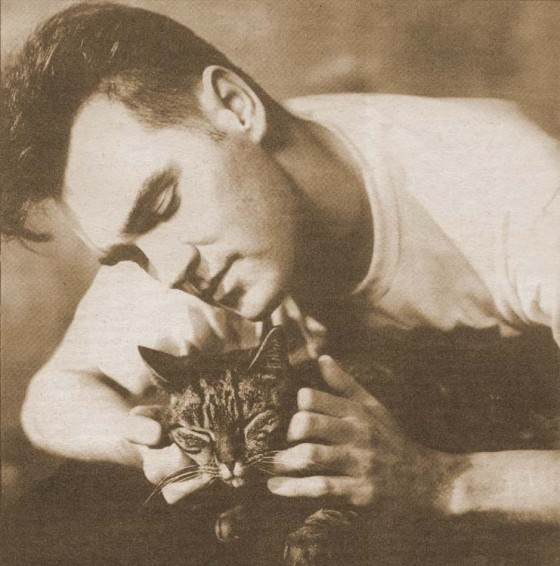 Morrissey with cat