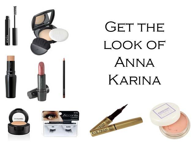 Makeup used to get Anna Karina makeup look