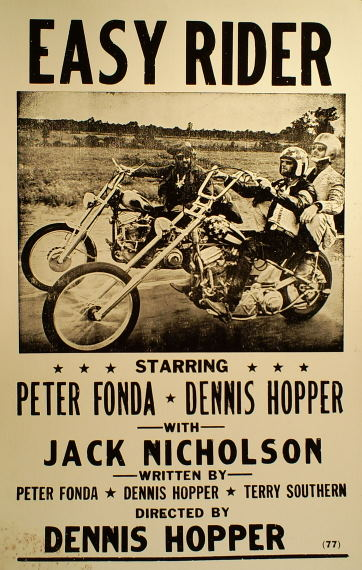 ... Easy Rider poster from U.S. Rider News. Ali MacGraw from Bluebird Easy Rider Movie Poster
