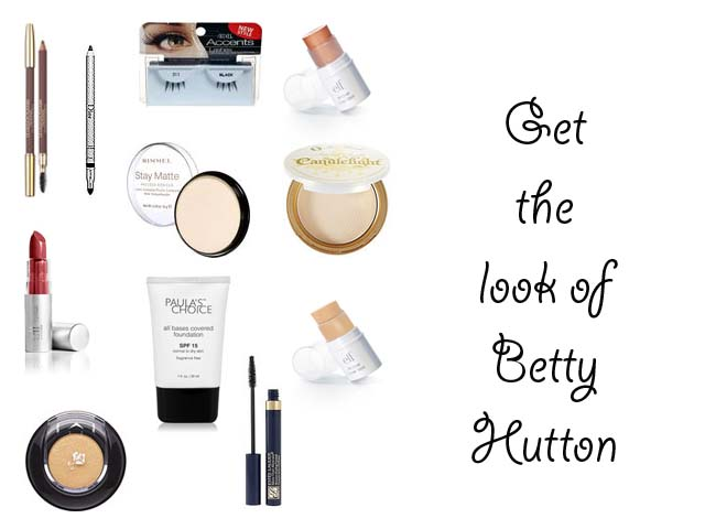 Makeup tutorial for 1940's Betty Hutton look
