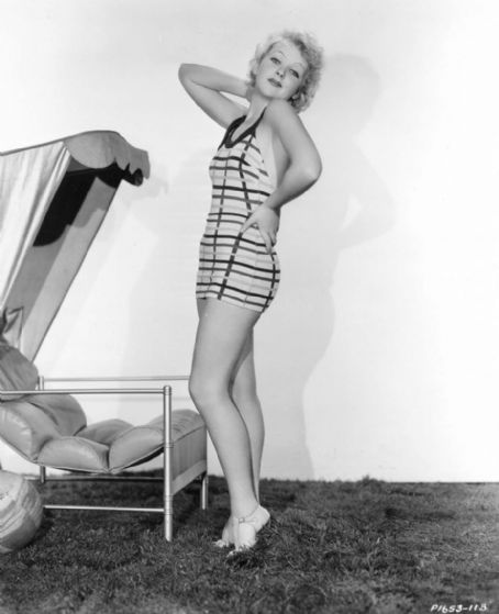 Ida Lupino in a bathing suit.