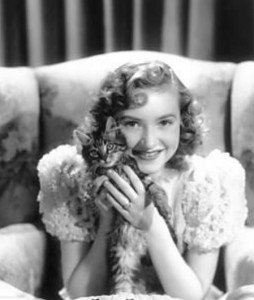 Susanna Foster with kitten