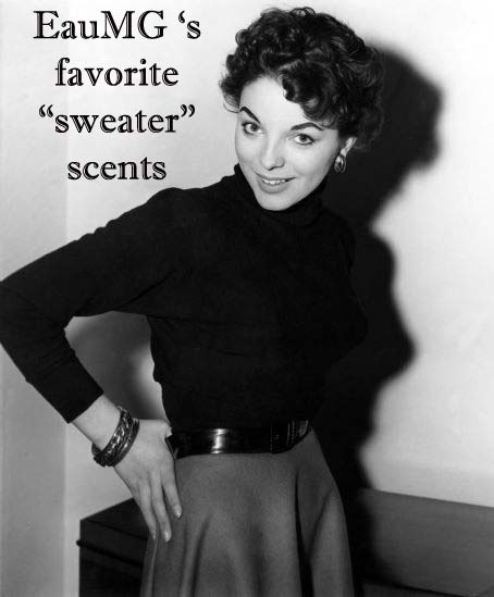 Joan Collins in a turtleneck