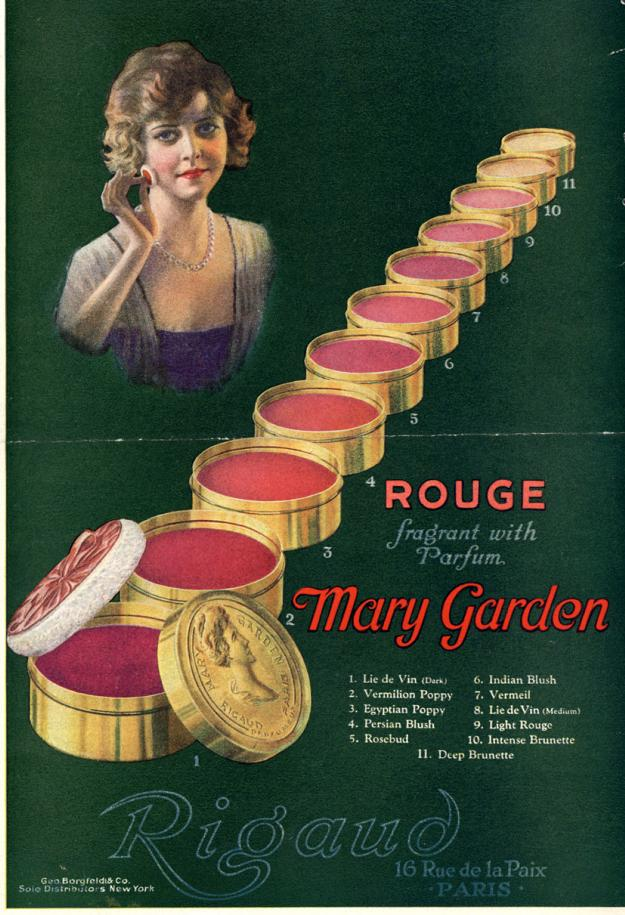 1920 Rouge makeup ad
