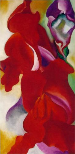 Georgia O'Keeffe Red Snapdragons