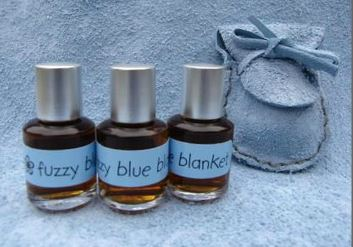 Skye Botanicals Fuzzy Blue Blanket