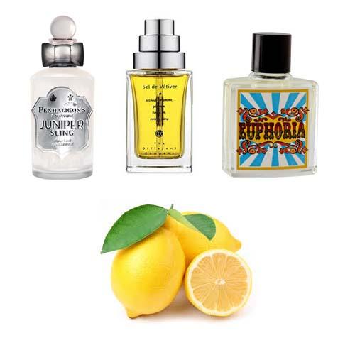 Summer citrus perfumes