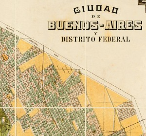 vintage Buenos Aires map