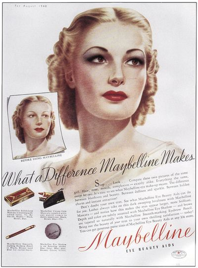 1940's Maybelline ad