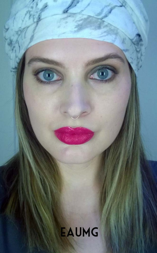 Bright Pink Lipstick Look