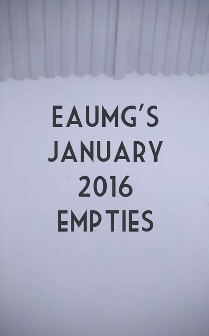 January 2016 Empties
