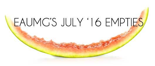 July 2016 Empties