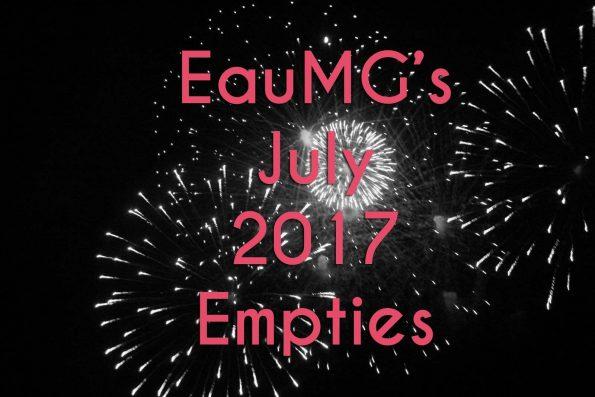July 2017 Empties