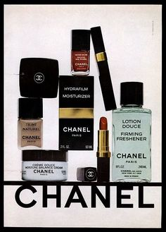 Chanel 1978 makeup ad