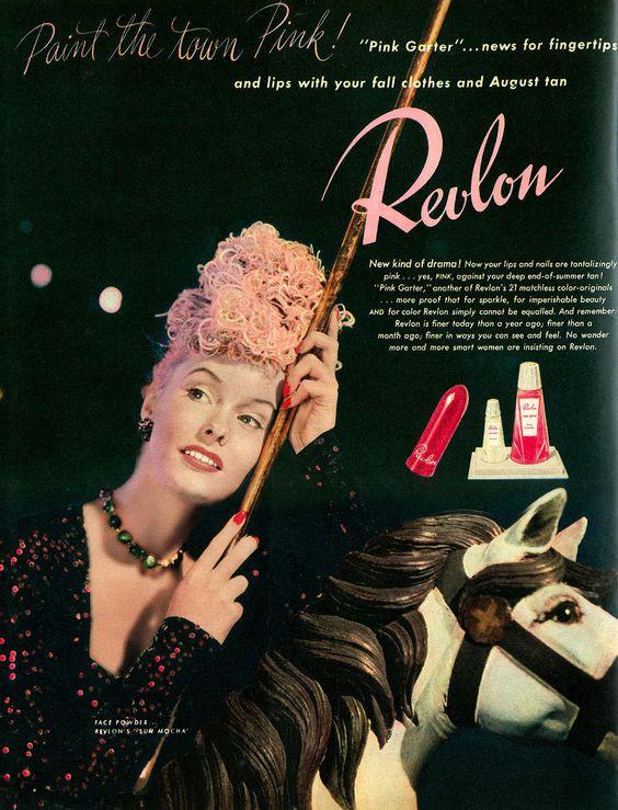 Revlon 1940's makeup ad