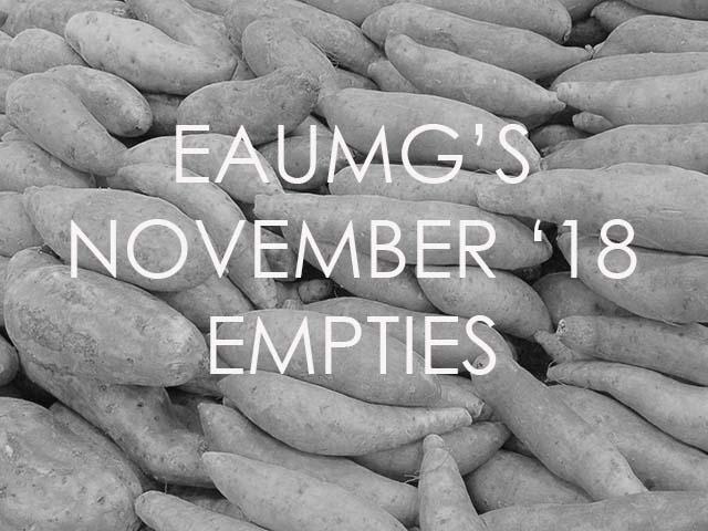 November 2018 empties
